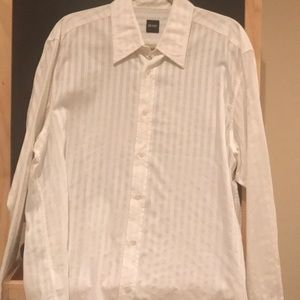 Hugo Boss white dressy shirt